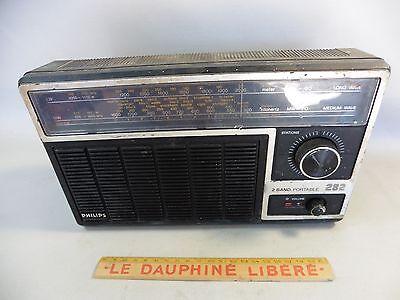 Antiguo Radio Transistor Philips 282 / Falta Tapa Baterías/ESTADO segunda mano  Embacar hacia Mexico