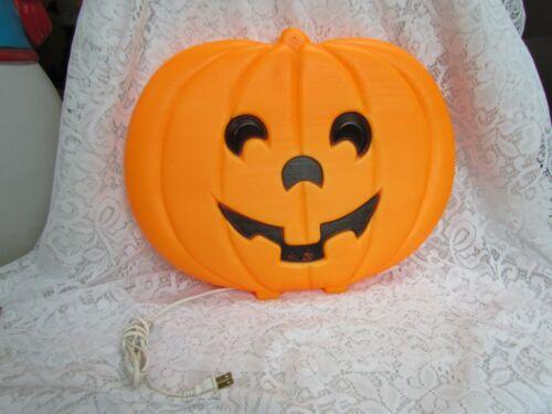 Halloween Flat Pumpkin Blow Mold Lighted Decoration ~ Unmarked