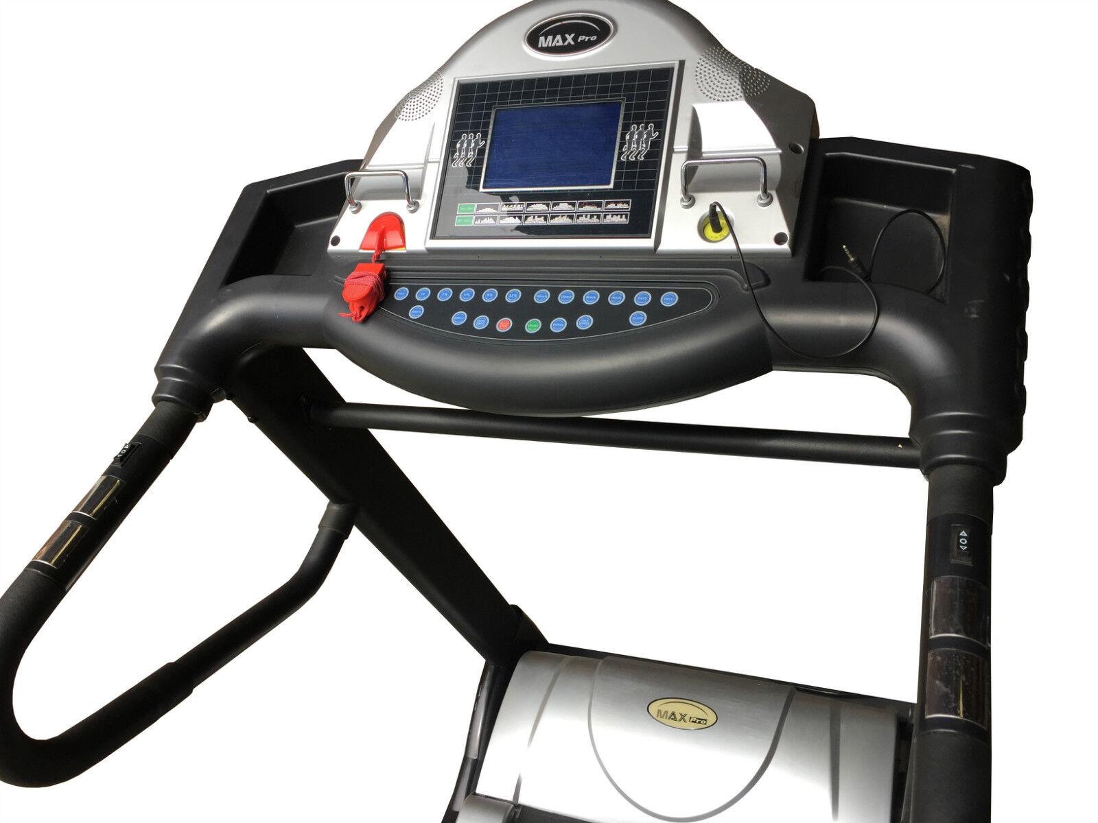 Demo treadmill 6 5hp peak motor 20 incline 510mm wide belt for Treadmill 2 5 hp motor