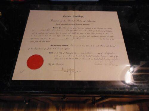 1924 Calvin Coolidge Autograph Official Presidential Document