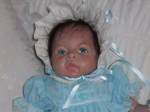 REBORN BABY DOLL, DRESSED BLUE AND WHITE GORGEOUS  OUTFIT Brighton Brighton Area Preview