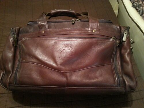 Links and Kings leather duffle travel bag