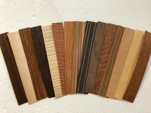 """200 pieces wood veneer 8"""" x 1-1/4"""" exotic marquetry bent rings ring"""