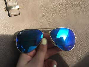 Large frame blue tinted Raybands