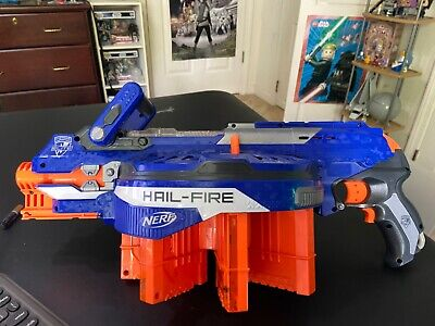 Nerf N-Strike Elite Hail Fire Blaster Dart Gun With 4 Clips TESTED DISCONTINUED