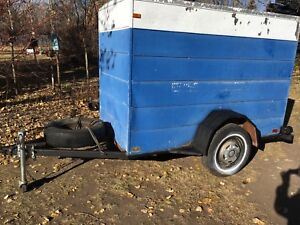4 by 8 enclosed trailer