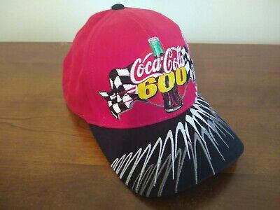 Coca-Cola 600 NASCAR Racing Black & Red Strapback Hat Cap