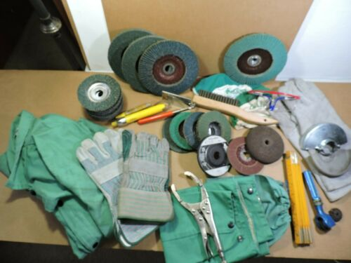 Great Welding Lot...  Flap Disc, Welding Jacket, Sleeves, Gloves, Safety Glasses