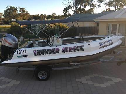 Aqualine 590 C/C pontoon boat, 175 4 Stroke West Perth Perth City Preview