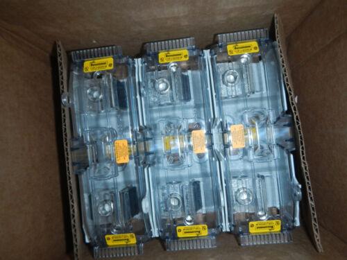 "Bussmann JM60200-3CR Fuse Block & CVR-J-60200-M Cover ""SameDayShip"" ""NEW"""