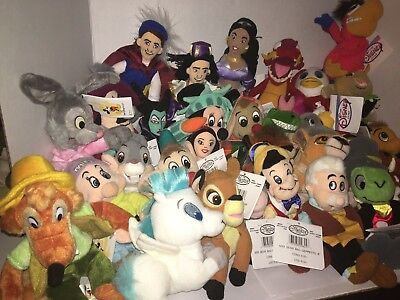 Disney Mini Bean Bag/Beanie Baby Plush Toy -All Have Original Tags- Set for $235 Beanie Bean Bag Plush