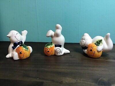 Halloween Ghosts with Pumpkins Set. NEW