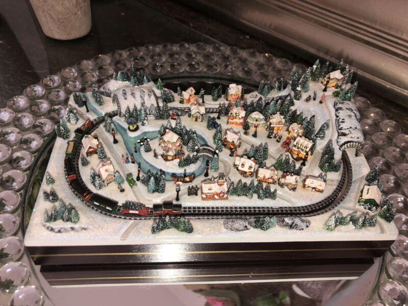 "Thomas Hawthorne Village Kinkade ""Christmas Crossing"" Miniatures Village"