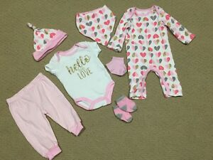 6 month baby girl 7pc clothing set