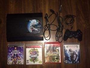 PlayStation 3 with Wireless Controller & 5 Games