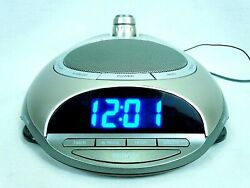 Homedics Sound Spa Projector Clock AM/FM Radio 6 Nature Sound Sleep Therapy