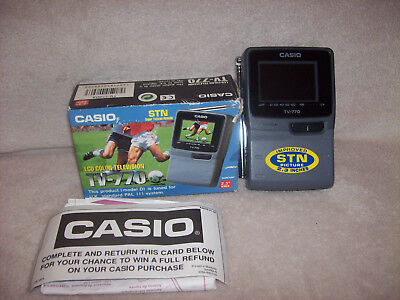 Casio Hand Held LCD Colour TV 770 with Box & Instructions
