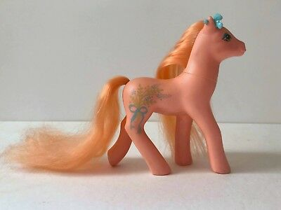 My Little Pony Mein kleines Pony G1 1988 vintage orange Blumenstrauß stempel