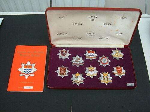 London Fire Brigade Historic Badges - Limited Edition Set # 0939. c 1978