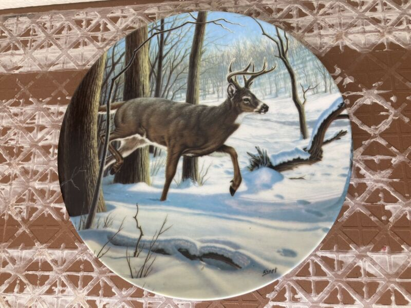 The White-Tailed Deer Vintage Collectors Plate by Paul Krapl Bradex 1989