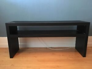 """Pair of IKEA """"Lack"""" console tables"""