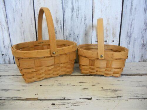 2 wicker baskets/ estate find/