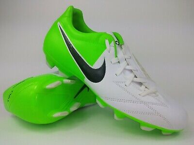 b649cb5f9 Nike Mens Rare T90 Shoot IV FG 472547-170 White Green Soccer Cleats Size 8