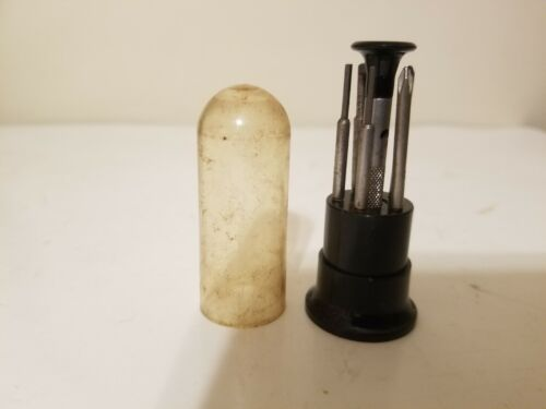 VINTAGE TOOLS MINIATURE SCREWDRIVER SET IN GOOD USED CONDITION JEWELERS