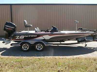 2013 NITRO Z-8 BASS BOAT !!! 250 MERCURY OPTIMAX !!!  ONLY14 HOURS !!! WARRANTY