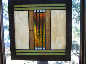 PRAIRIE/ CRAFTSMAN STYLE STAINED GLASS WINDOW (PAIR AVAILABLE)