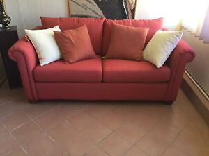 Terracotta Queen Sofa Bed / Lounge Wakeley Fairfield Area Preview