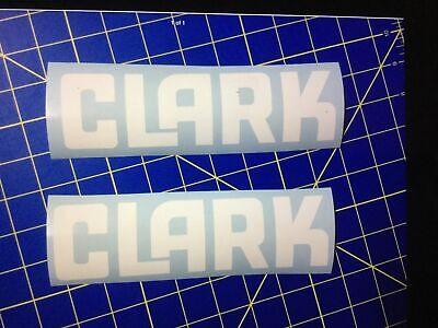 2-clark Forklift Decals White Vinyl Decal 16 Inches