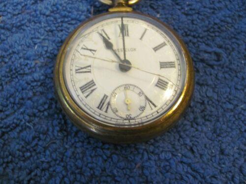 Vintage Westclock railroad pocket watch