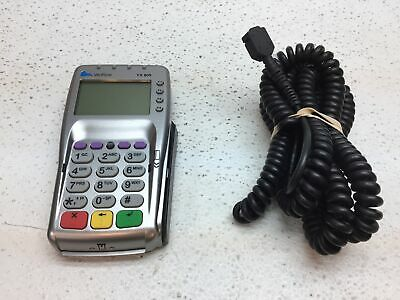 Used Verifone Vx 805 Credit Card Reader W Power Cord - Reset To Factory Default