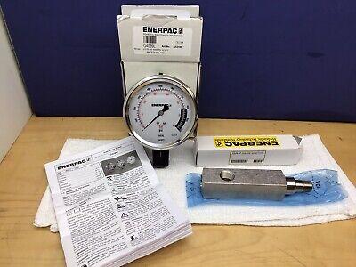 Enerpac Ga2 Gauge Adaptor W Enerpac G4039l 0-10000 Psi 4 Gauge