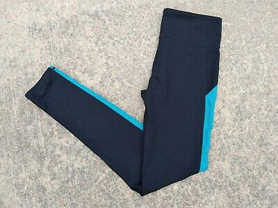 💙Fabletics Women's Black with Blue Stripe Leggings~Size XS~Free Shipping!