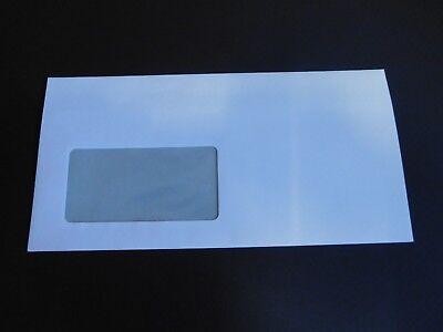 H192 Briefumschläge DIN Lang mit Fenster weiß selbstklebend 10 50 100 1000 Stück ()