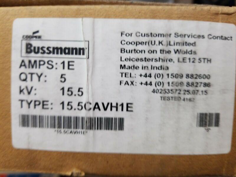 EATON BUSSMANN 15.5CAVH1E 1A Time Delay Cylindrical Fiberglass Fuse 15500VAC