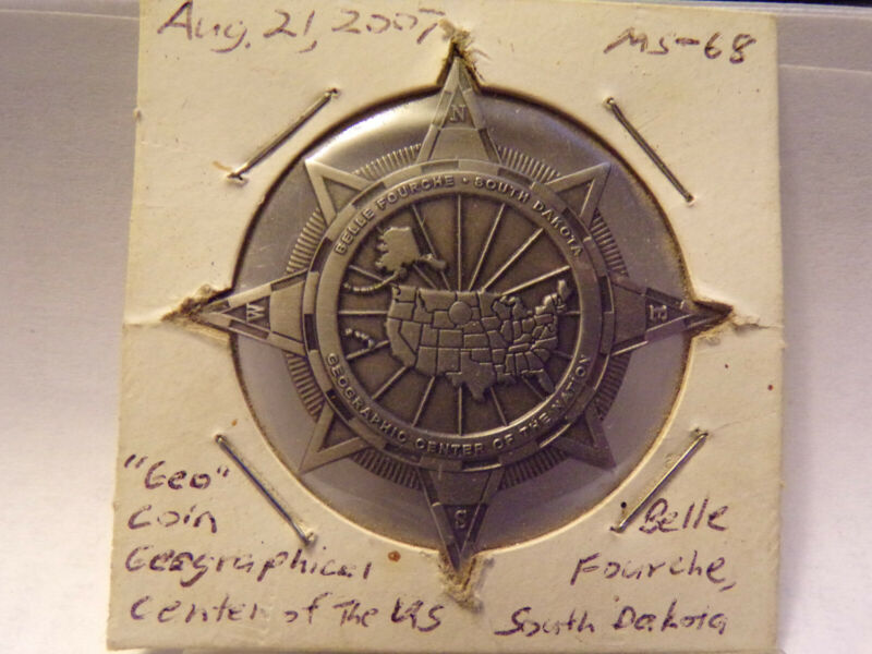 2007 Geocache Coin Graphical Center of the US