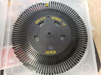 Xerox Typewriter Printwheel Daisy Wheel Script 12 9r81015