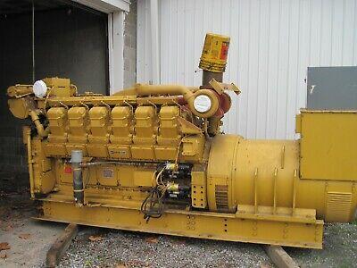 1000 Kw Caterpillar 3512di Diesel Generator Set 277480v 419 Hours