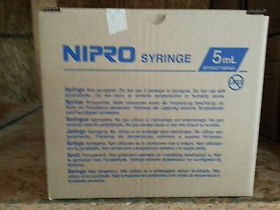 Nipro Syringes 5ml Box Of 25 5cc Luer Lock Without Needle Sterile Jd05l