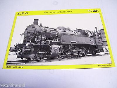 Deutsche Bahn Eisenbahn DR Reichsbahn AK D.R.G. Güterzug Lokomotive Lok 93 001