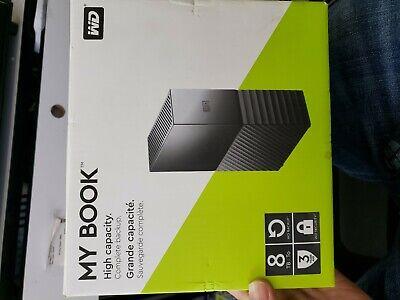 WD 8TB My Book Desktop External Hard Drive - USB 3.0 -NOT WORKING-