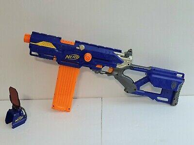 Nerf N-Strike Long Strike CS-6 Sniper Rifle Gun 18 Dart Clip Pop Up Target Works