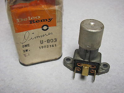 NOS Ford Headlight Dimmer Switch Delco 1972161 U-803 59-up 1959