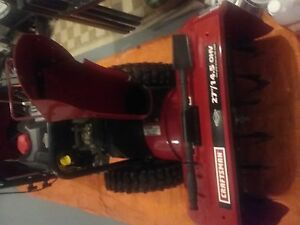 Craftsman snow blower. As new, 10 hours use.