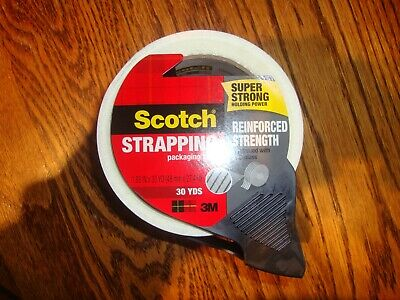 3m Scotch Strapping Shipping Packing Tape With Dispenser Heavy Duty Reinfiorced