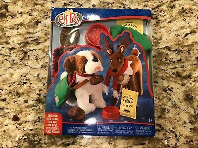 Elf on the Shelf Pets Saint Bernard Dog Reindeer Fox Good Tidings Tote Bag Scarf