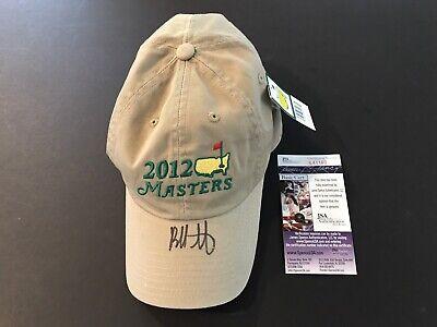09ebf4b567376 Bubba Watson Signed Authentic 2012 Masters Slouch Cap (Khaki)